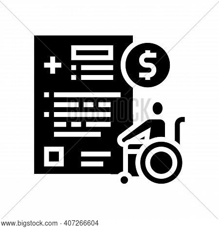 Disabled Allowance Glyph Icon Vector. Disabled Allowance Sign. Isolated Contour Symbol Black Illustr