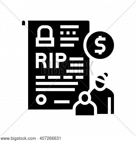 Loss Of Breadwinner Allowance Glyph Icon Vector. Loss Of Breadwinner Allowance Sign. Isolated Contou