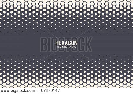 Hexagonal Pattern Vector Abstract Geometric Technology Background. Retro Colored Halftone Hexagons B