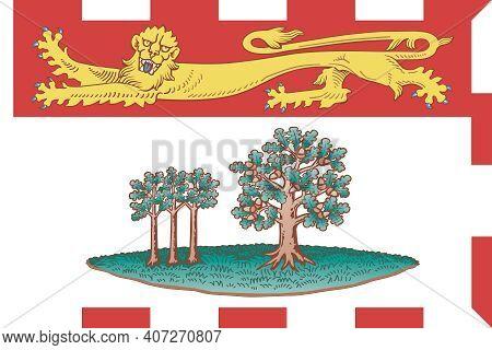 Official Large Flat Flag Of Prince Edward Island Horizontal