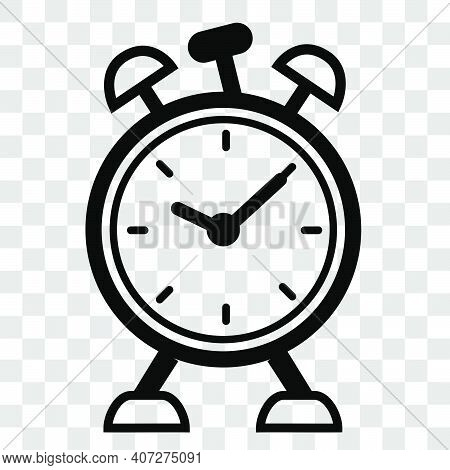Simple Vector Icon, Alarm Clock, At Transparent Effect Background