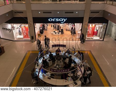 Belgrade, Serbia - January 24, 2021: Orsay Fashion Logo In Front Of Their Boutique In Belgrade. Orsa