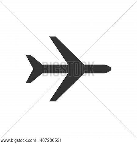 Airplane Icon. Tourist Air Travel, Delivery Of Goods. Airlines