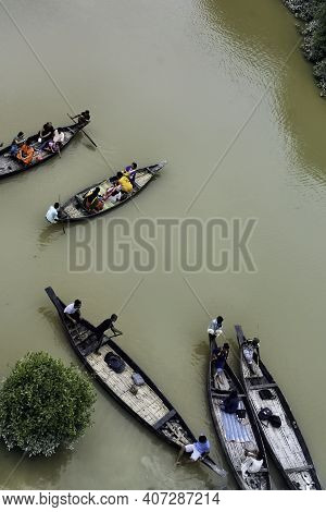 Sylhet, Bangladesh - October 7, 2019: Ratargul Swamp Forest, Green Swamp Forest.