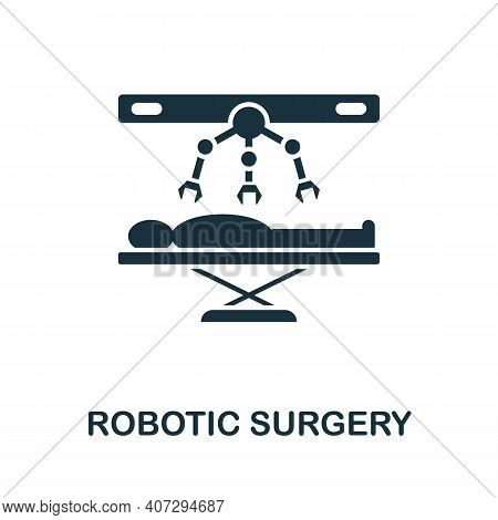 Robotic Surgery Icon. Simple Element From Technology Collection. Filled Monochrome Robotic Surgery I