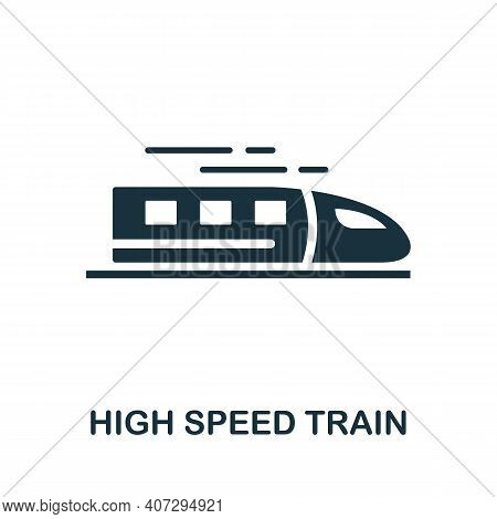 High Speed Train Icon. Simple Element From Technology Collection. Filled Monochrome High Speed Train