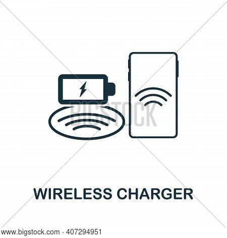 Wireless Charger Icon. Simple Element From Technology Collection. Filled Monochrome Wireless Charger