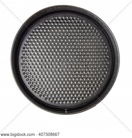 Round Detachable Cake Pan For Bake Top View Isolated On A White Bacground