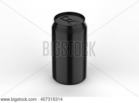 Black Can Mockup For Beer, Alcohol, Juice, Energy Drink And Soda, Aluminium Glossy Can Mock Up On Is