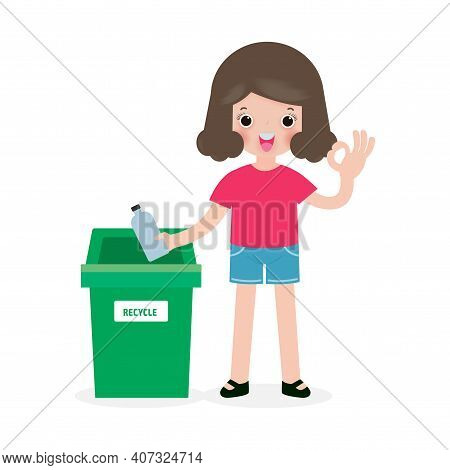 Children Rubbish For Recycling, Kids Segregating Trash, Recycling Trash, Save The World, Male Recycl
