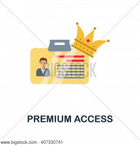 Premium Access Flat Icon. Color Simple Element From Customer Loyalty Collection. Creative Premium Ac