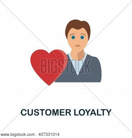 Customer Loyalty Flat Icon. Colored Filled Simple Customer Loyalty Icon For Templates, Web Design An