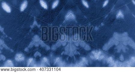 White Style Shibori. Broken Zigzag Effect. Abstract Spotted Poster. Seaside Brush Wallpaper. Tie Dye