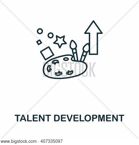 Talent Development Icon. Simple Element From Business Management Collection. Creative Talent Develop