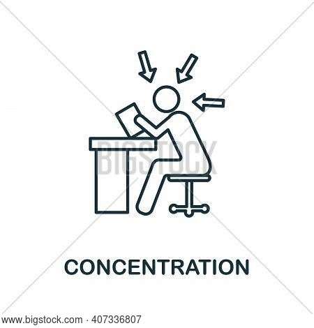 Concentration Icon. Simple Element From Business Management Collection. Creative Concentration Icon