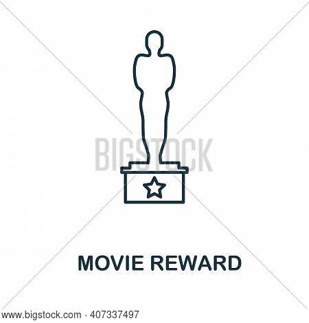 Movie Reward Icon. Simple Element From Cinema Collection. Creative Movie Reward Icon For Web Design,