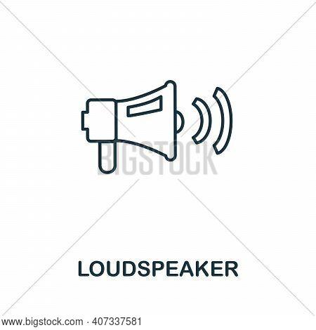 Loudspeaker Icon. Monochrome Simple Loudspeaker Icon For Templates, Web Design And Infographics