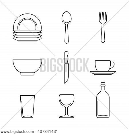 Cutlery Icon Isolated On White Background From Kitchen Collection. Cutlery Icon Trendy And Modern Cu