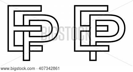 Logo Sign Ep Pe Icon Sign Interlaced Letters P, E Vector Logo Ep, Pe First Capital Letters Pattern A