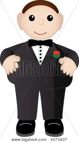 Adorable Male In Tuxedo