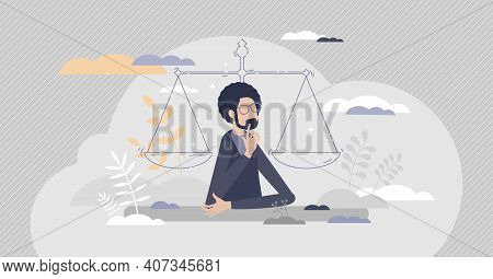 Legal Decisions Thinking As Right Law Judgment Choice Tiny Person Concept