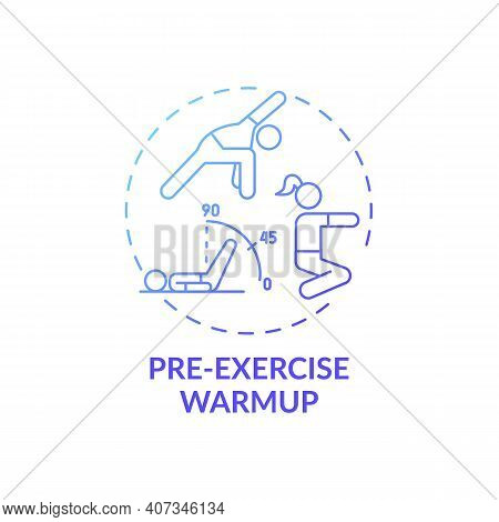 Pre-exercise Warmup Concept Icon. Home Physical Training Idea Thin Line Illustration. Less Muscle Te