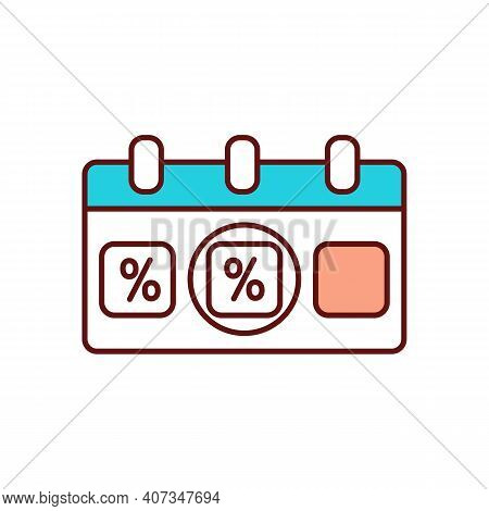 Seasonal Clearance Sale Schedule Rgb Color Icon. Smart Shopping Tips. Commercial Event, Marketing St