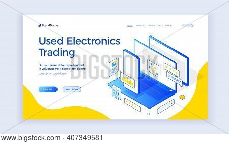 Web Banner For Used Electronic Trading Market
