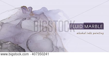 Fashion Alcohol Inks. Liquid Marble Splash. Elegant Art Invitation. Business Wedding Card. Color Alc