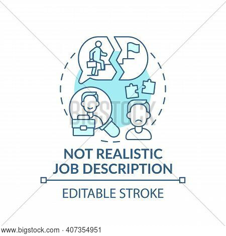 Information Of Recruitment Concept Icon. Not Realistic Job Description Idea Thin Line Illustration.
