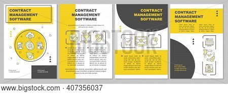 Contract Management Software Brochure Template. Executing, Signing. Flyer, Booklet, Leaflet Print, C