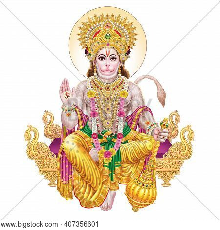 High-resolution Stock Photography Of Lord Hanuman From A House Of Creative Art For Printing Industry
