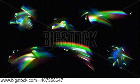 Rainbow Crystal Light, Prism Flare Reflection, Lens Refraction, Glass, Jewelry Or Gem Stone Glare, O