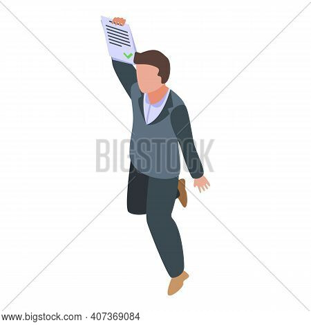 School Test Passed Icon. Isometric Of School Test Passed Vector Icon For Web Design Isolated On Whit
