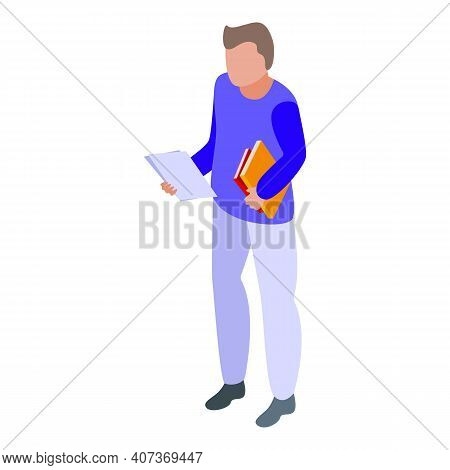School Test Answer Icon. Isometric Of School Test Answer Vector Icon For Web Design Isolated On Whit
