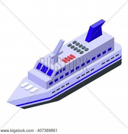 Ferry Journey Icon. Isometric Of Ferry Journey Vector Icon For Web Design Isolated On White Backgrou