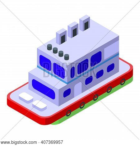 Ferry Maritime Icon. Isometric Of Ferry Maritime Vector Icon For Web Design Isolated On White Backgr