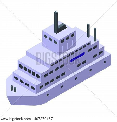 Ferry Passenger Icon. Isometric Of Ferry Passenger Vector Icon For Web Design Isolated On White Back