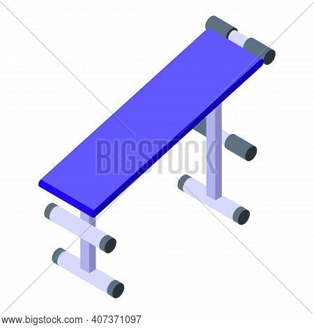 School Gym Bench Icon. Isometric Of School Gym Bench Vector Icon For Web Design Isolated On White Ba