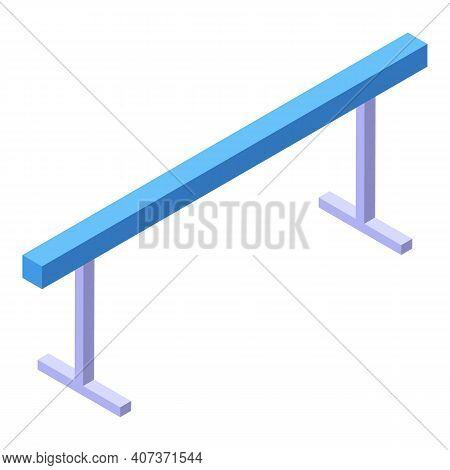 School Gym Gymnastic Bar Icon. Isometric Of School Gym Gymnastic Bar Vector Icon For Web Design Isol