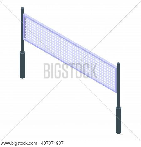 School Gym Volleyball Net Icon. Isometric Of School Gym Volleyball Net Vector Icon For Web Design Is