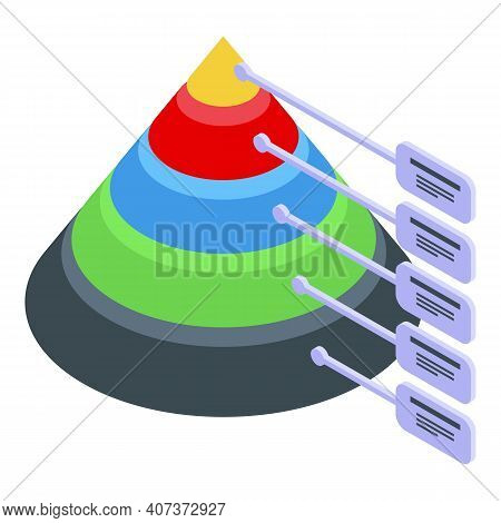 Cone Hierarchy Icon. Isometric Of Cone Hierarchy Vector Icon For Web Design Isolated On White Backgr