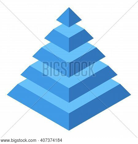 Pyramid Hierarchy Icon. Isometric Of Pyramid Hierarchy Vector Icon For Web Design Isolated On White