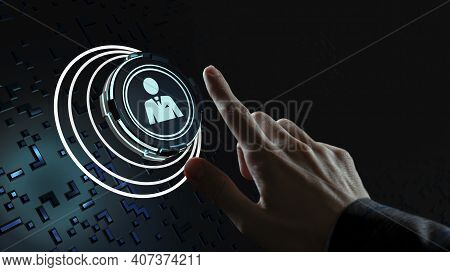 Internet, Business, Technology And Network Concept. Human Resources Hr Management Recruitment Employ