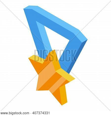 Medal Hierarchy Icon. Isometric Of Medal Hierarchy Vector Icon For Web Design Isolated On White Back