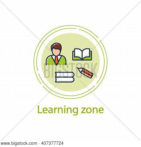 Learning Zone Concept Line Icon. Route To Success. Self Improvement And Self Realization. Business A