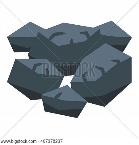 Nature Stones Icon. Isometric Of Nature Stones Vector Icon For Web Design Isolated On White Backgrou