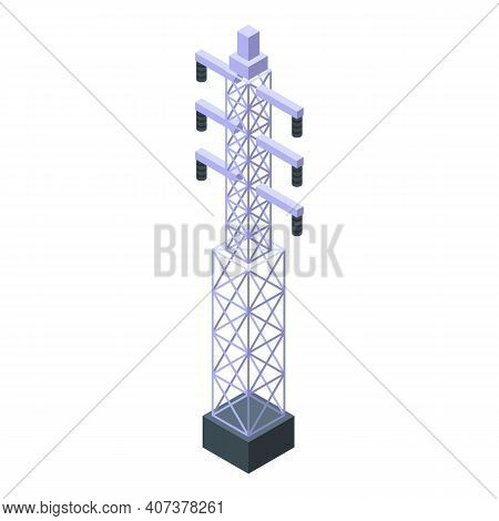 Hydro Power Icon. Isometric Of Hydro Power Vector Icon For Web Design Isolated On White Background