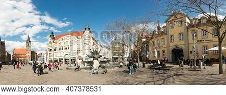 Erfurt, Germany - April 7 2016 : the area near the railway station