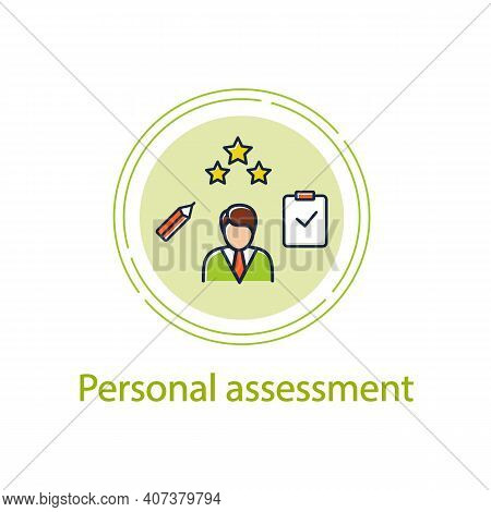 Personal Assessment Concept Line Icon.personal Growth Concept. Self Improvement And Self Realization